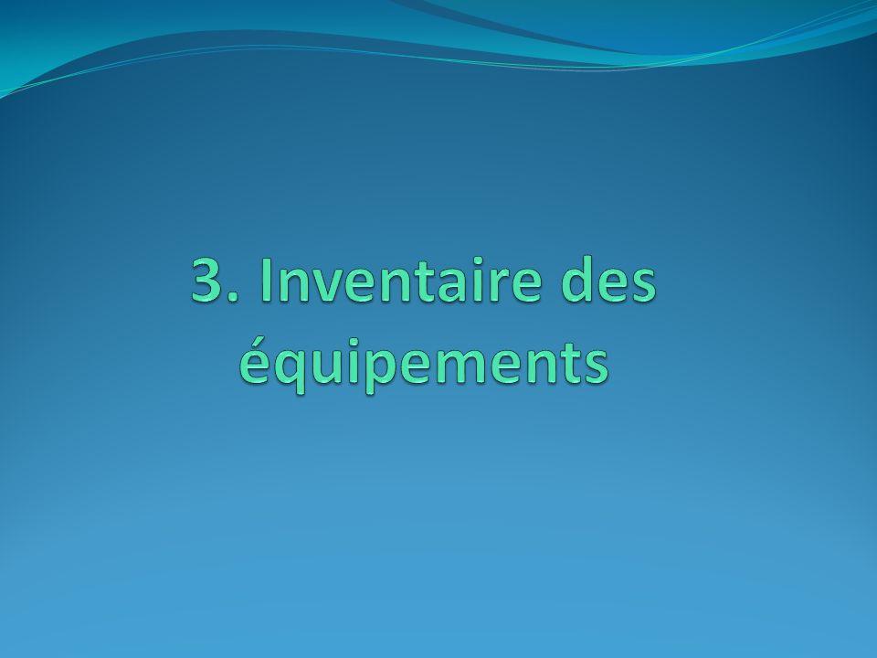 3. Inventaire des équipements