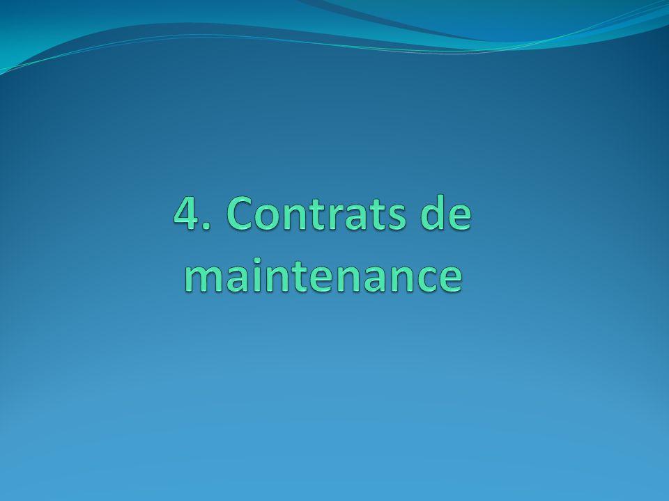4. Contrats de maintenance