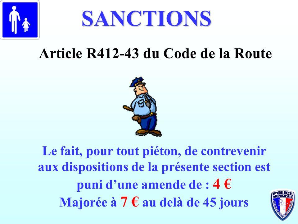Article R412-43 du Code de la Route Majorée à 7 € au delà de 45 jours