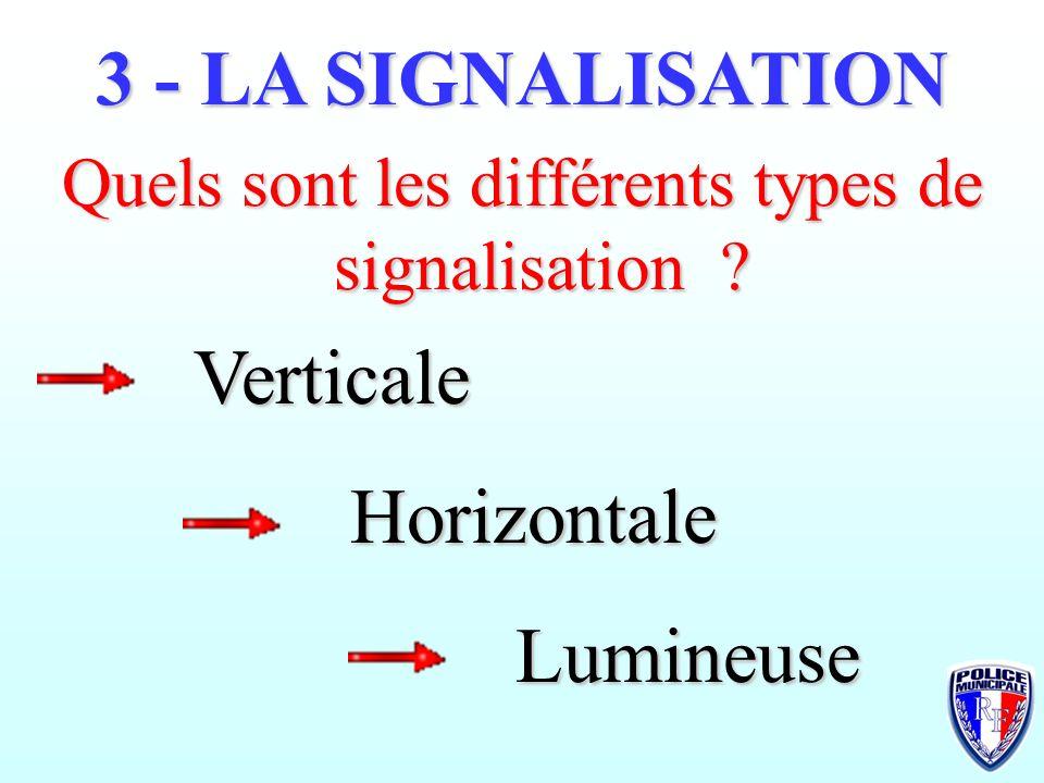 Quels sont les différents types de signalisation