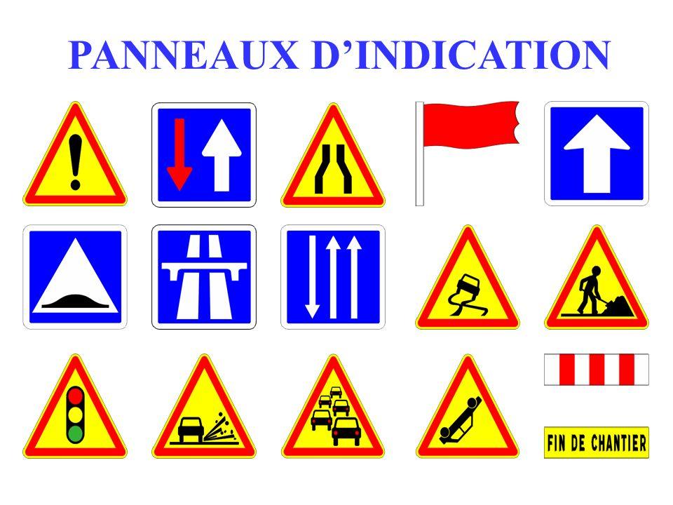PANNEAUX D'INDICATION