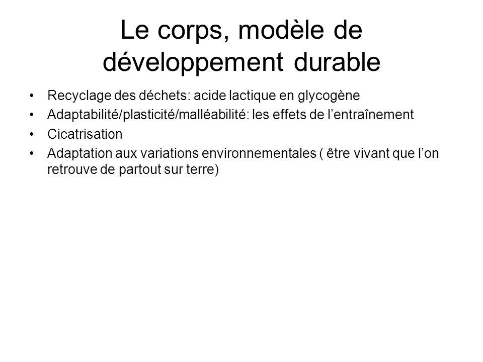 Le corps, modèle de développement durable
