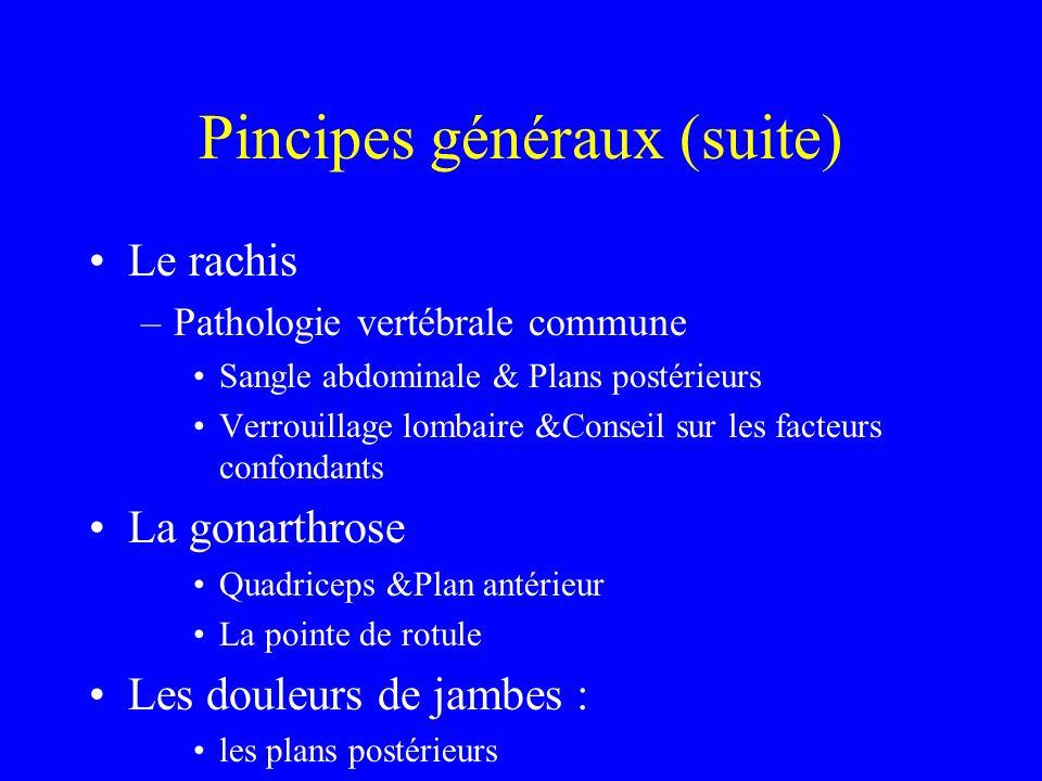 Pincipes généraux (suite)