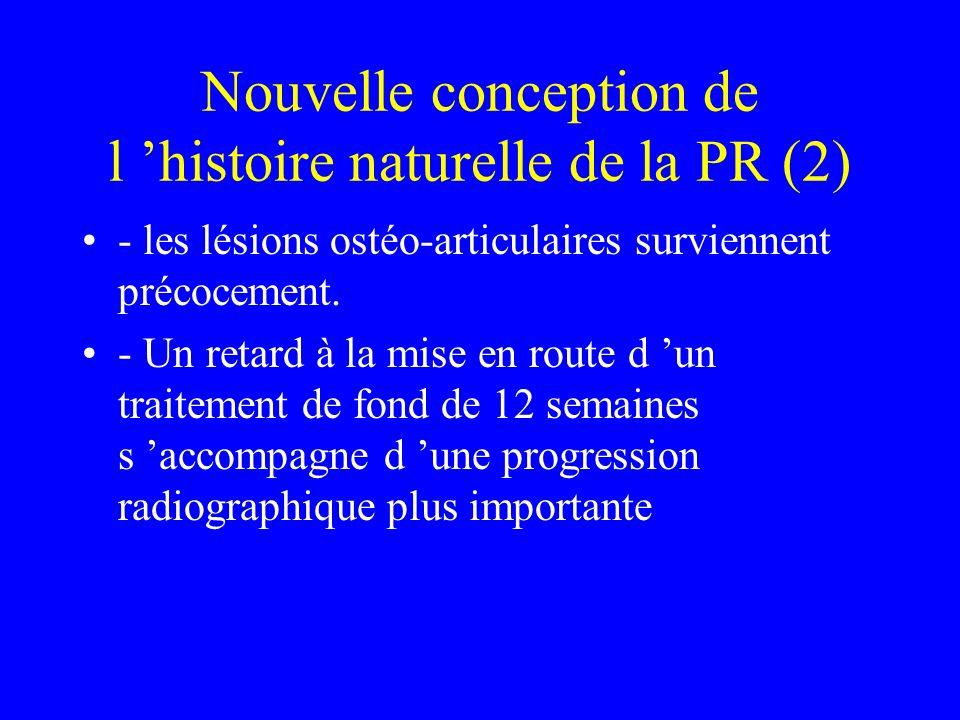 Nouvelle conception de l 'histoire naturelle de la PR (2)