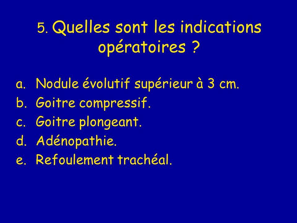 5. Quelles sont les indications opératoires