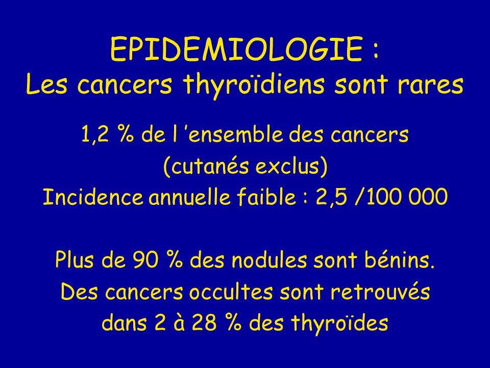 EPIDEMIOLOGIE : Les cancers thyroïdiens sont rares