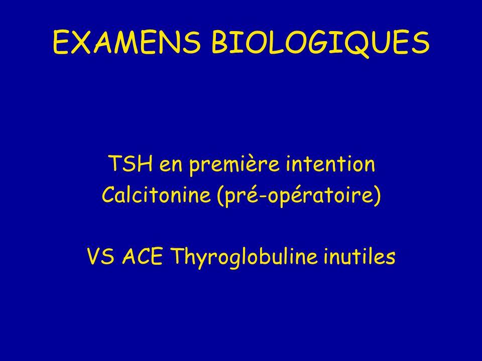 EXAMENS BIOLOGIQUES TSH en première intention