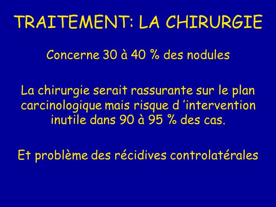 TRAITEMENT: LA CHIRURGIE