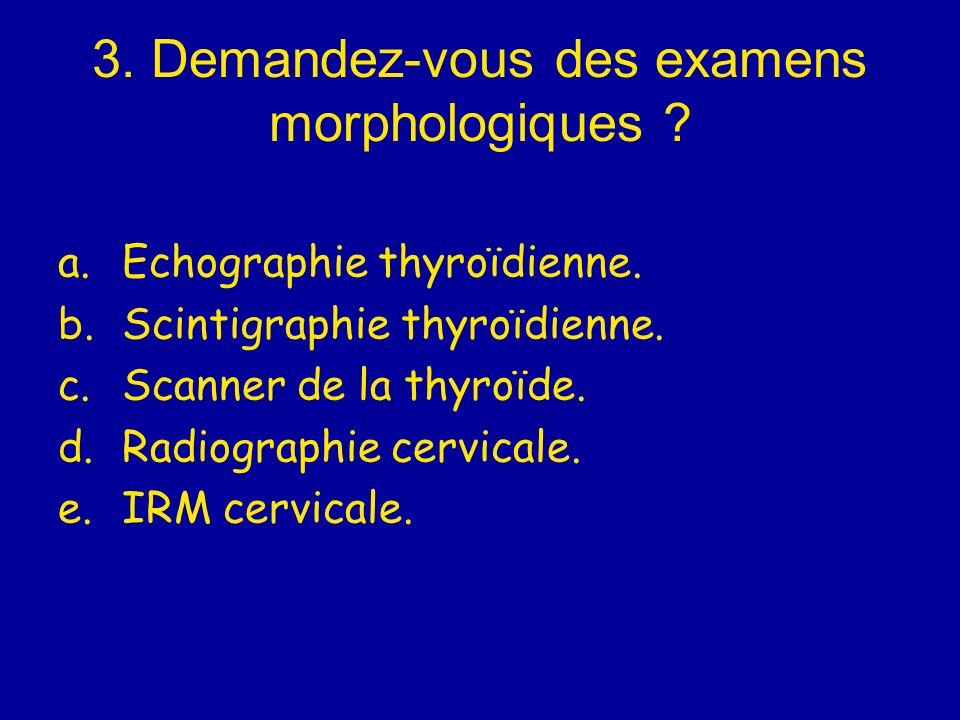 3. Demandez-vous des examens morphologiques