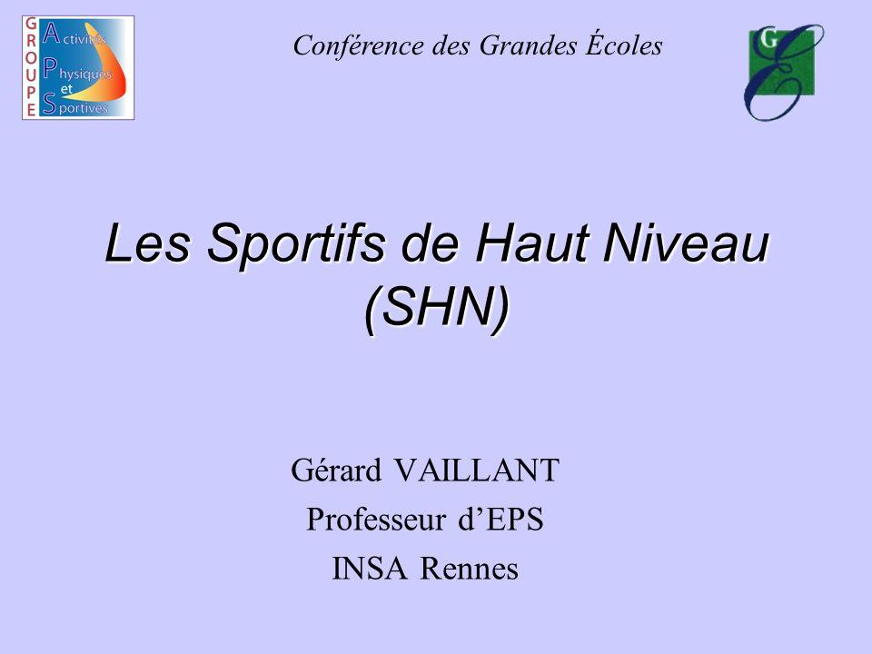 Les Sportifs de Haut Niveau (SHN)