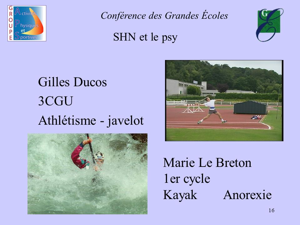 Marie Le Breton 1er cycle Kayak Anorexie