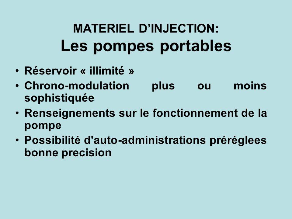 MATERIEL D'INJECTION: Les pompes portables