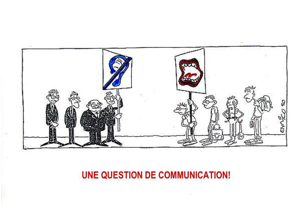 UNE QUESTION DE COMMUNICATION!