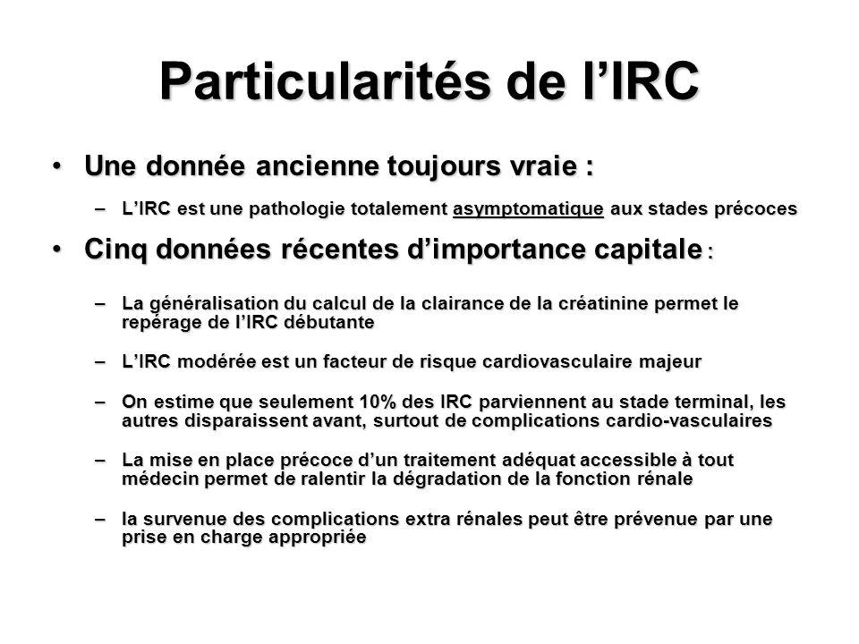 Particularités de l'IRC