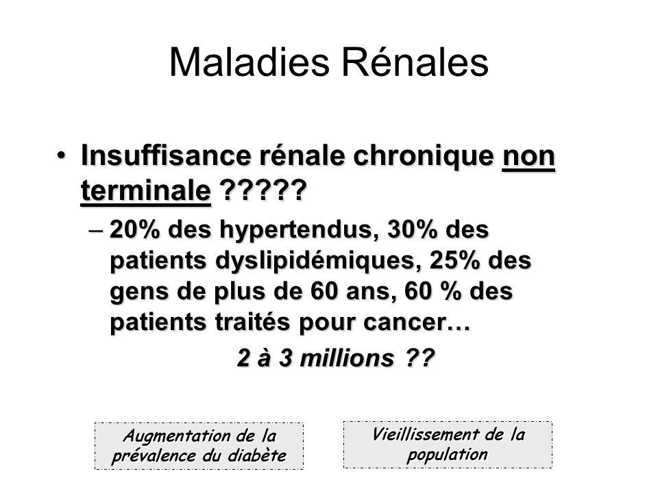 Maladies Rénales Insuffisance rénale chronique non terminale