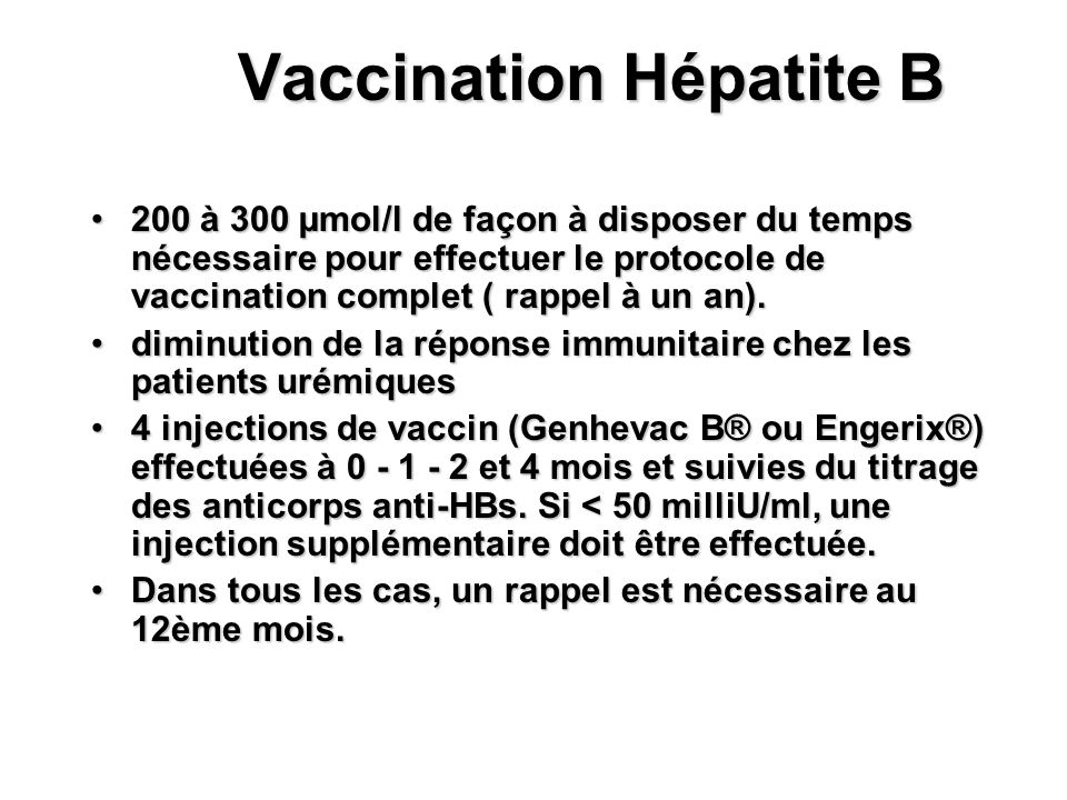 Vaccination Hépatite B
