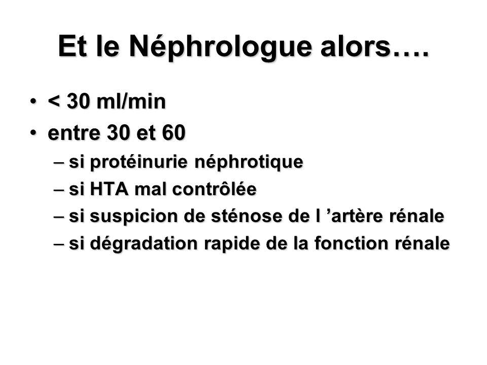 Et le Néphrologue alors….