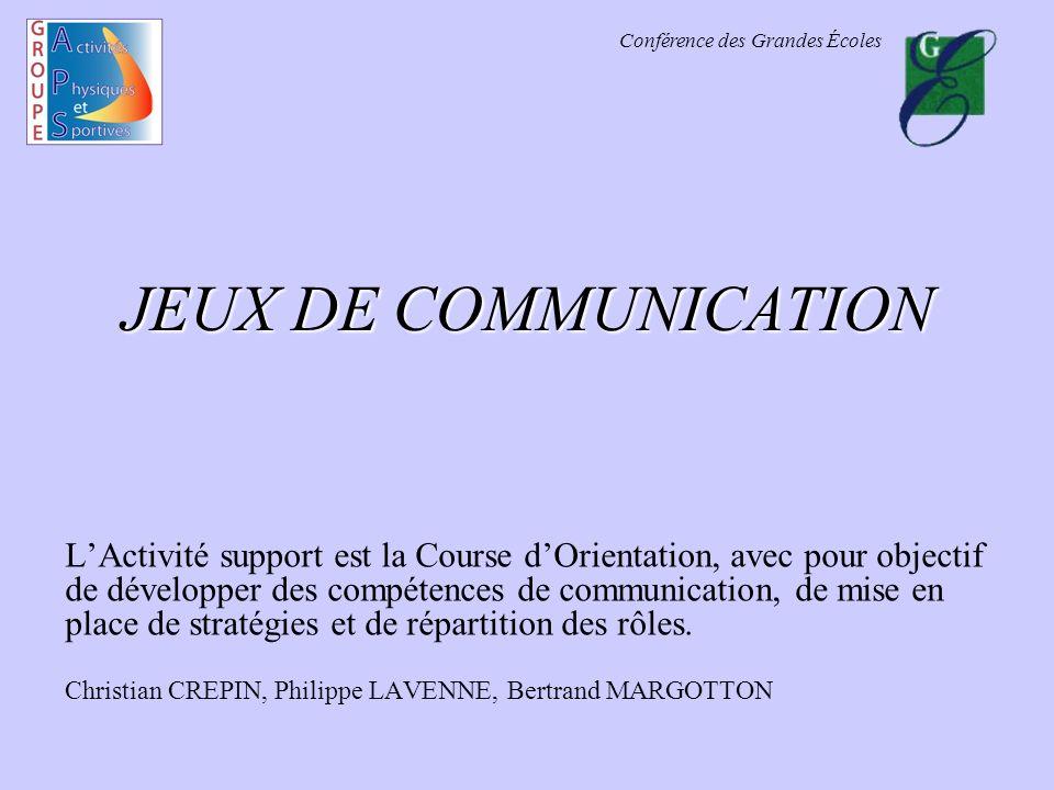 JEUX DE COMMUNICATION