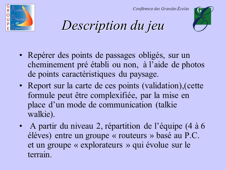 Description du jeu