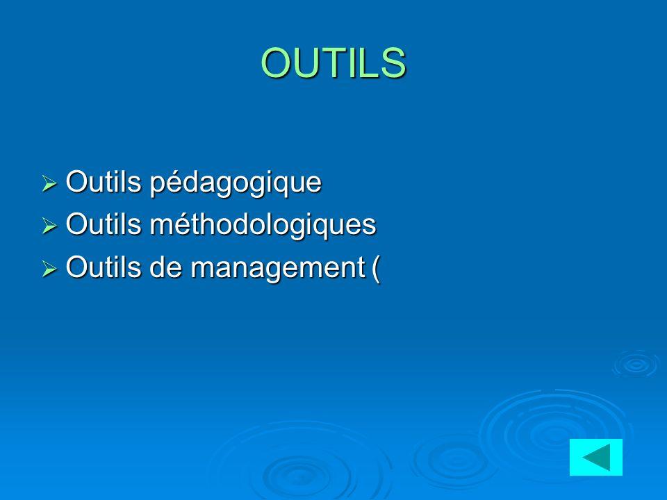 OUTILS Outils pédagogique Outils méthodologiques