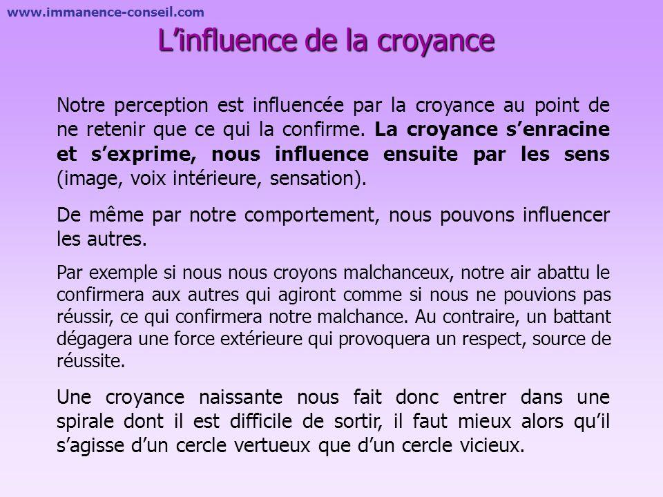 L'influence de la croyance