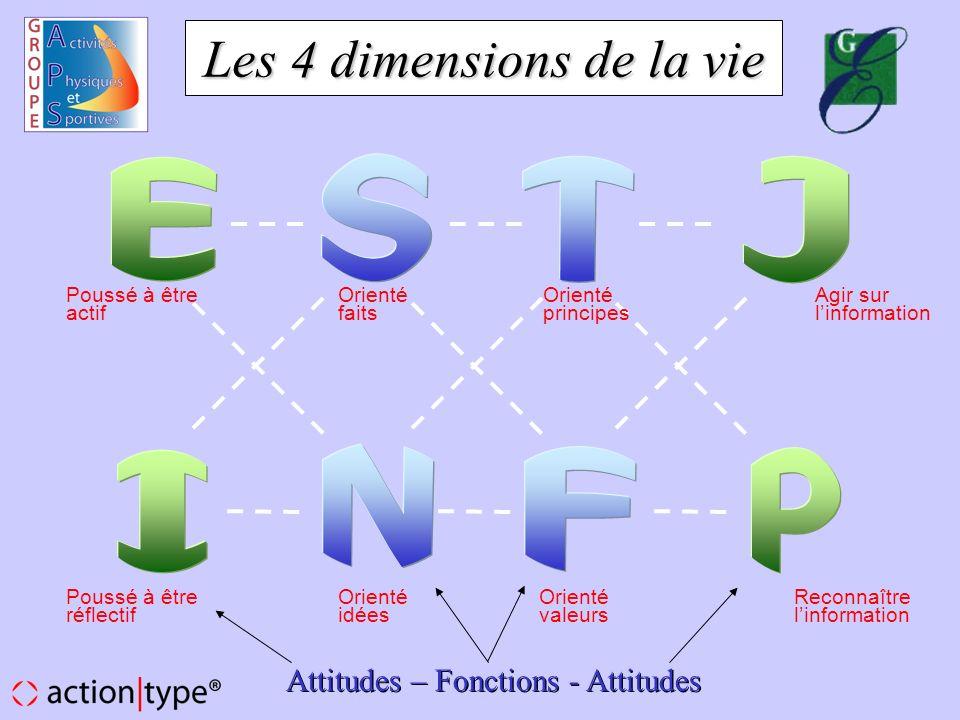 Les 4 dimensions de la vie