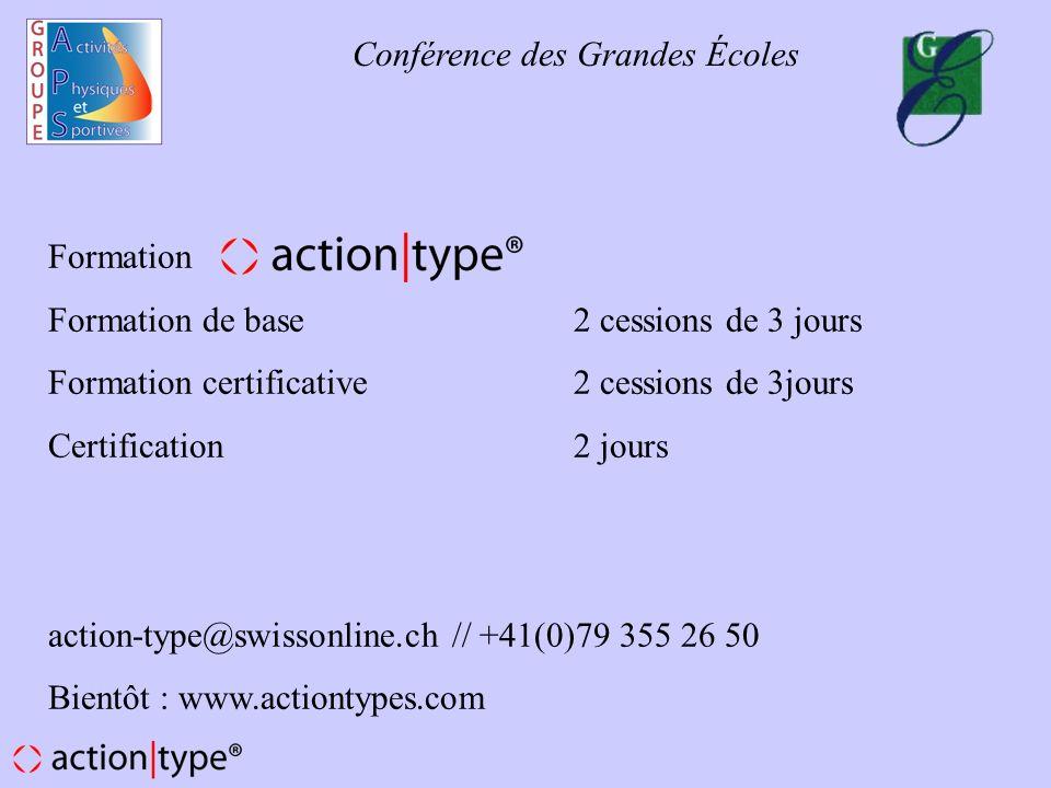 Formation Formation de base 2 cessions de 3 jours. Formation certificative 2 cessions de 3jours.