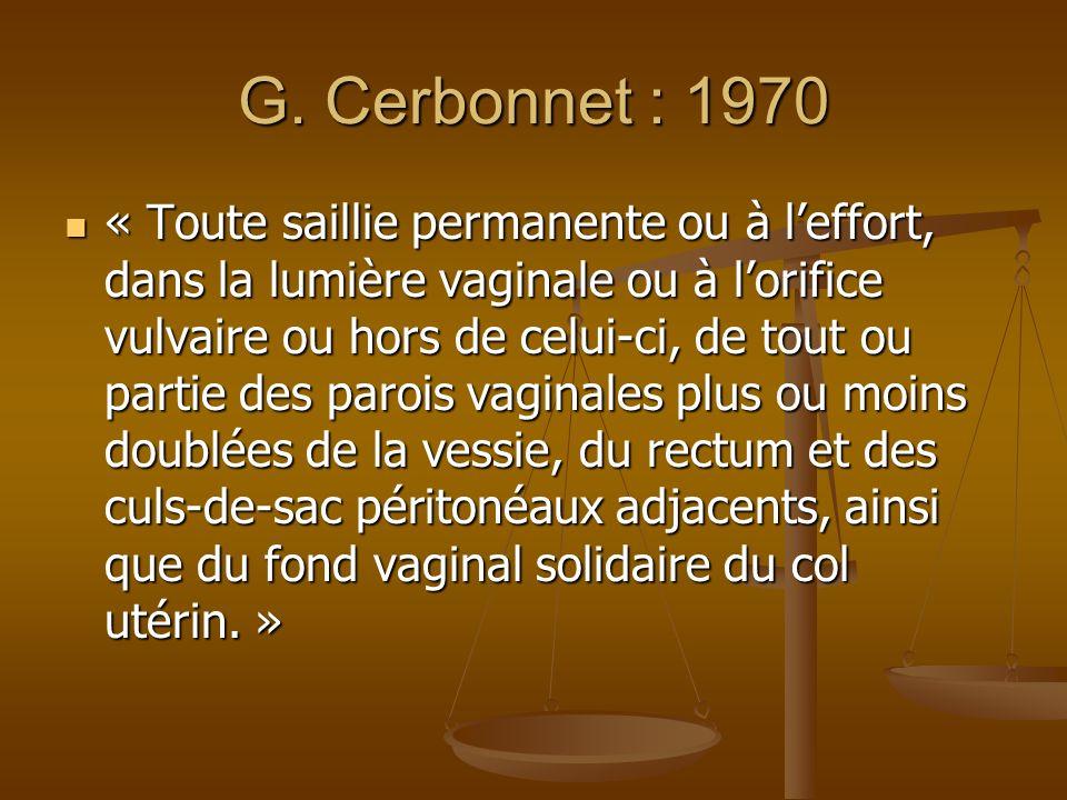 G. Cerbonnet : 1970
