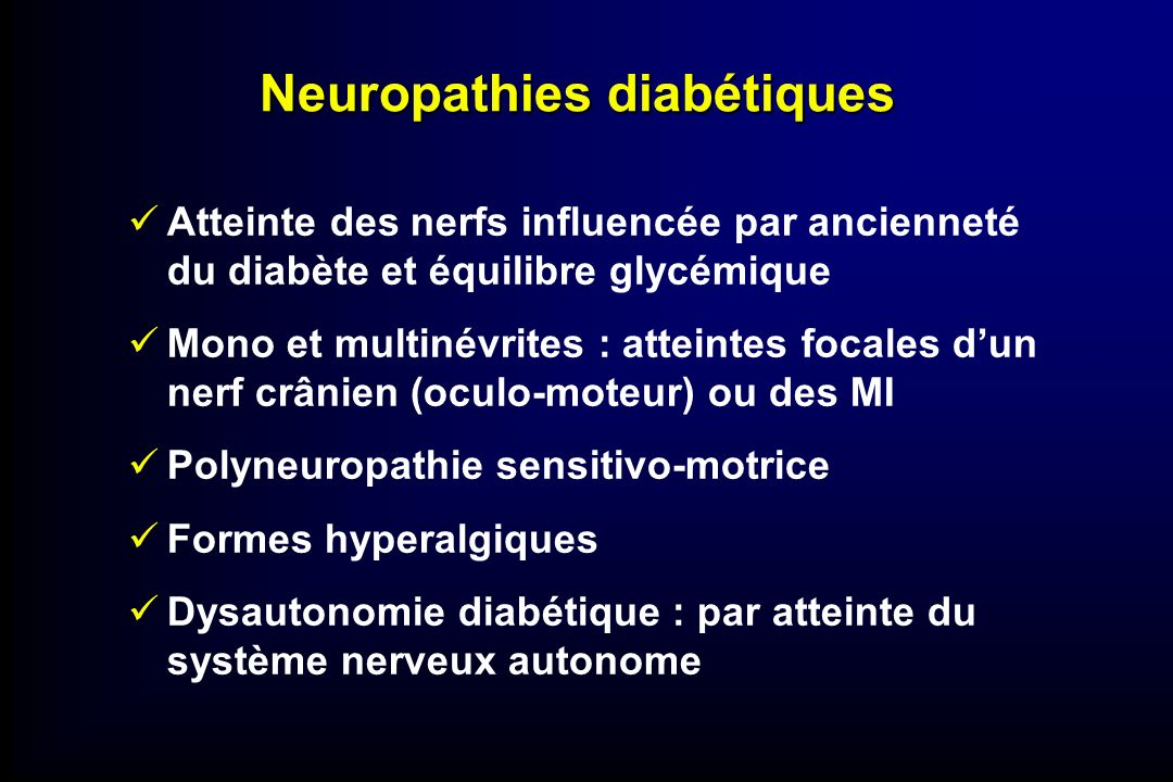 Neuropathies diabétiques