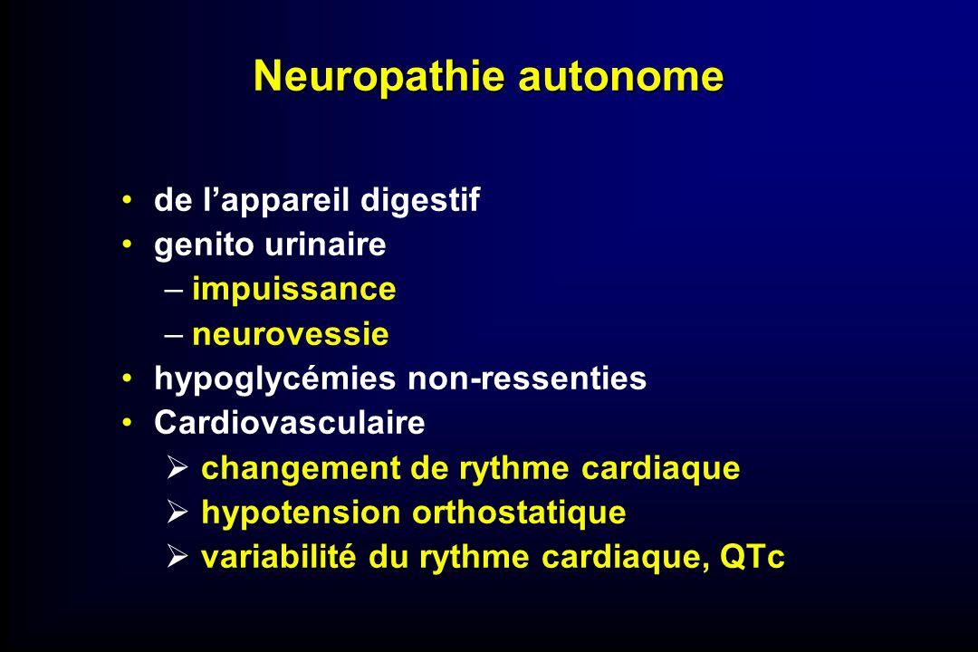 Neuropathie autonome de l'appareil digestif genito urinaire