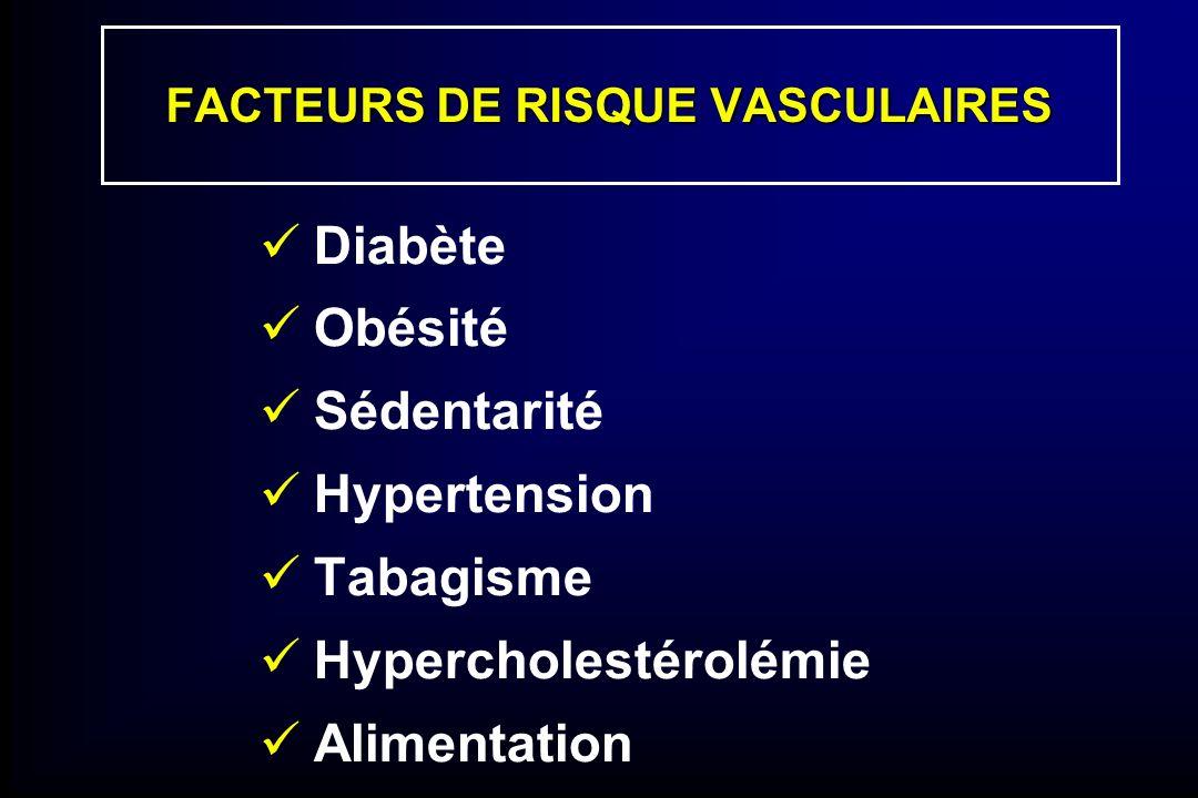 FACTEURS DE RISQUE VASCULAIRES