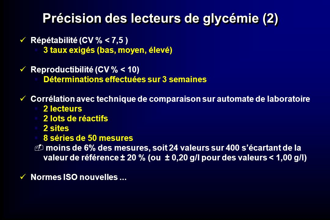 Précision des lecteurs de glycémie (2)