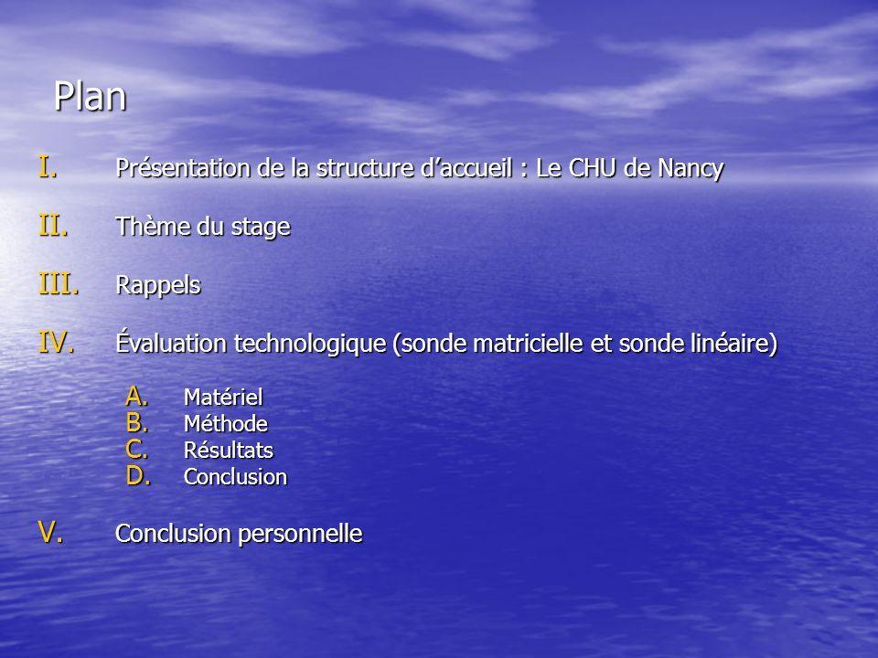 Plan Présentation de la structure d'accueil : Le CHU de Nancy