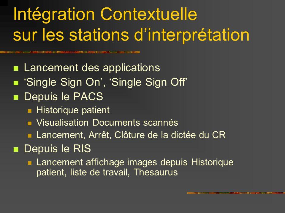 Intégration Contextuelle sur les stations d'interprétation