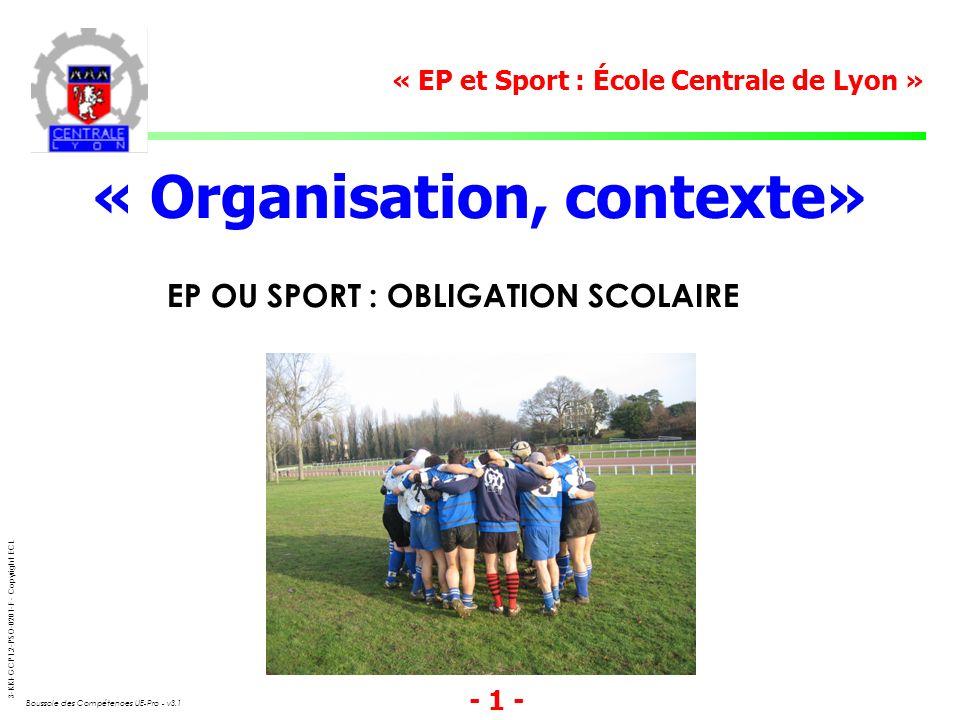 « Organisation, contexte»