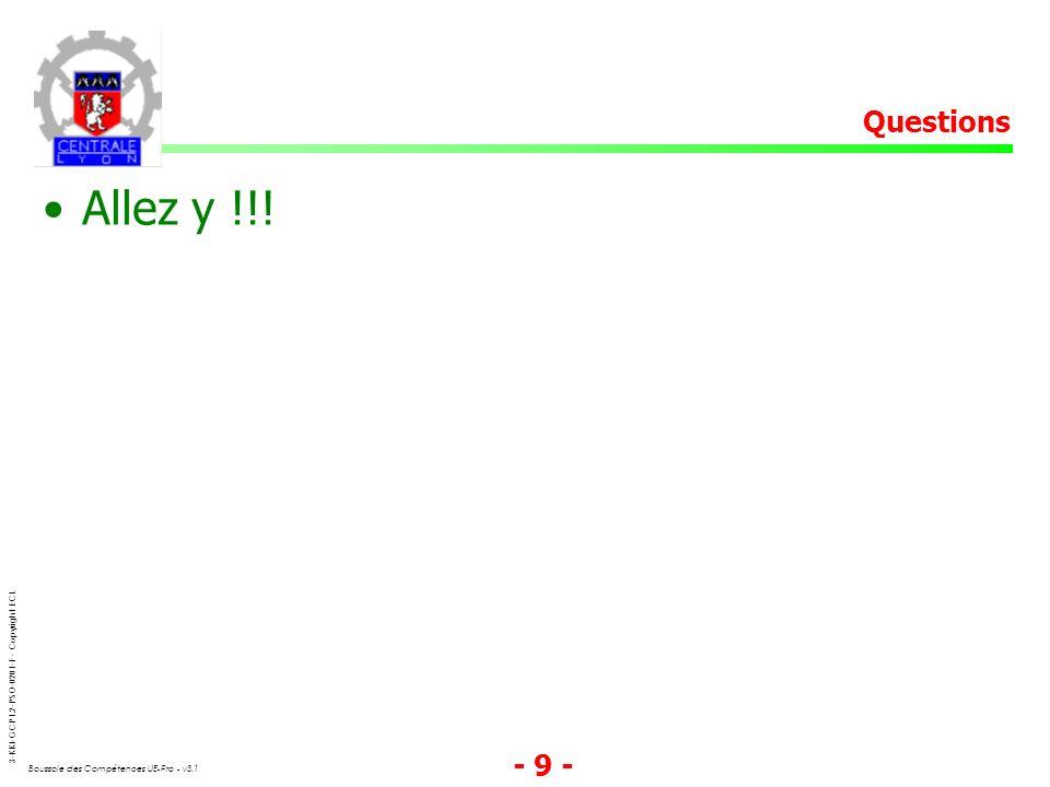 Questions Allez y !!!