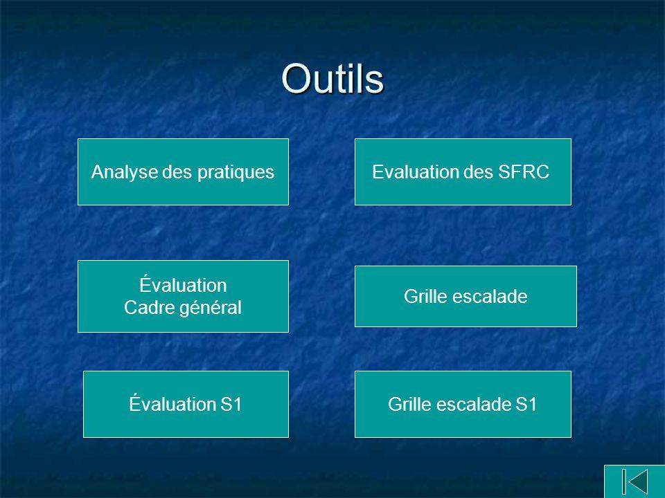 Outils Analyse des pratiques Evaluation des SFRC Évaluation