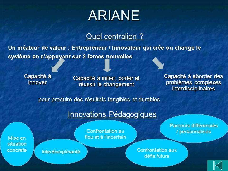 ARIANE Quel centralien Innovations Pédagogiques
