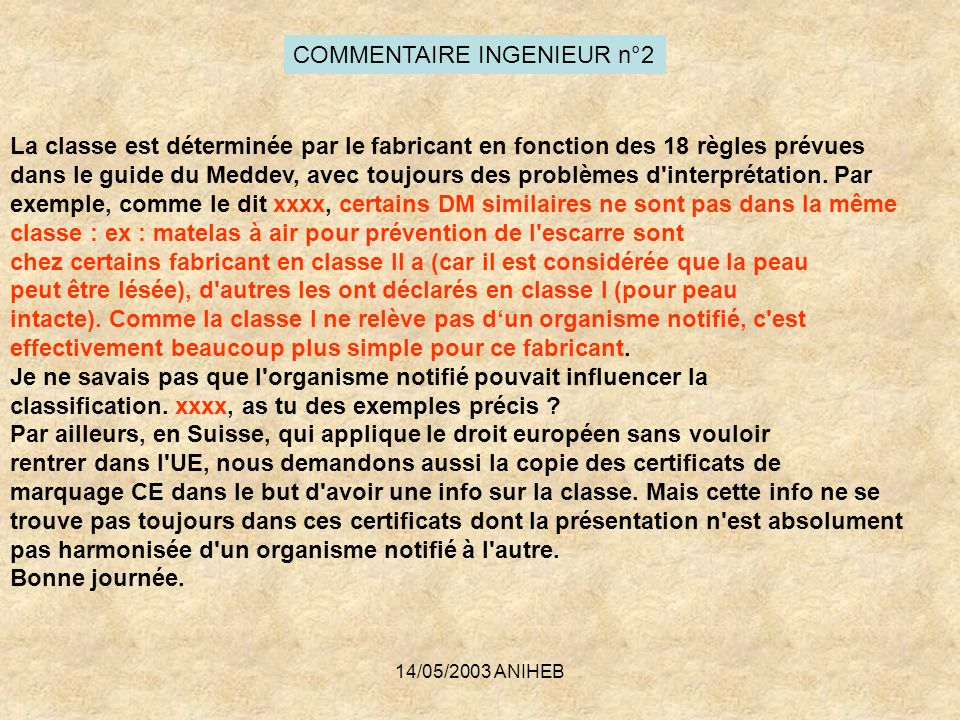 COMMENTAIRE INGENIEUR n°2