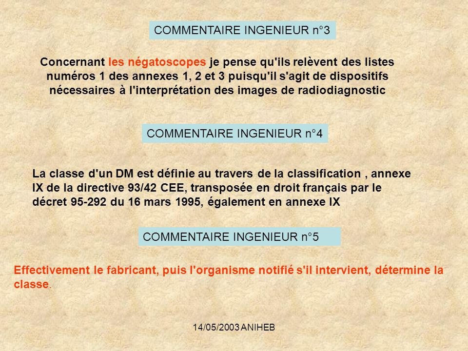 COMMENTAIRE INGENIEUR n°3