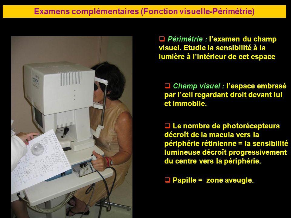 Examens complémentaires (Fonction visuelle-Périmétrie)