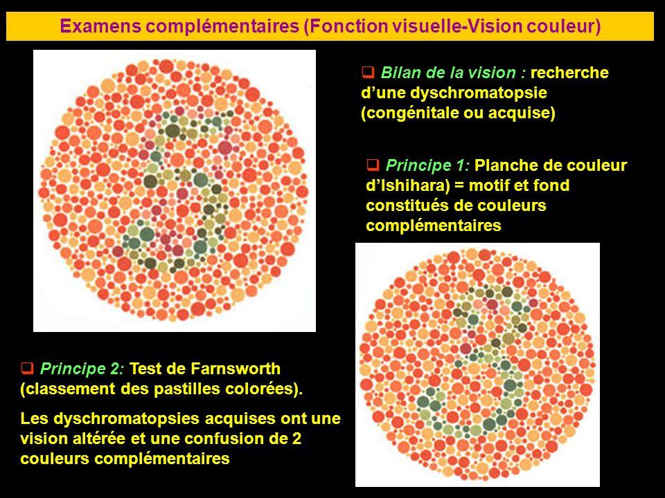 Examens complémentaires (Fonction visuelle-Vision couleur)