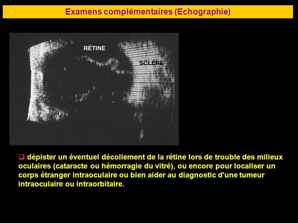 Examens complémentaires (Echographie)