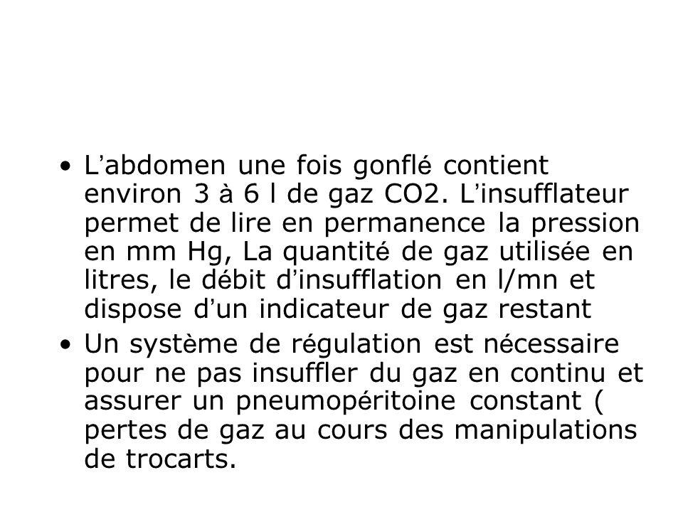 L'abdomen une fois gonflé contient environ 3 à 6 l de gaz CO2