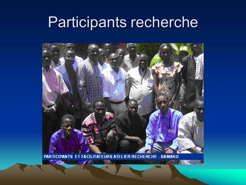 Participants recherche
