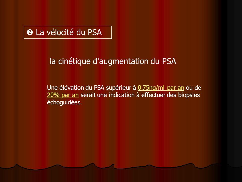 la cinétique d augmentation du PSA