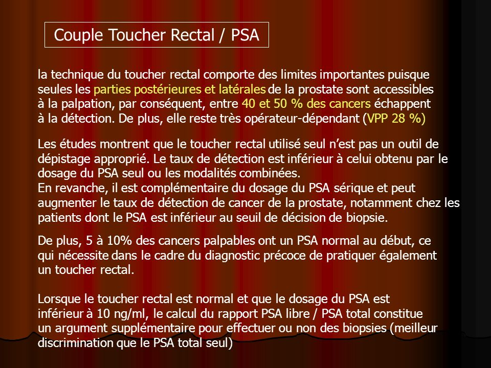 Couple Toucher Rectal / PSA