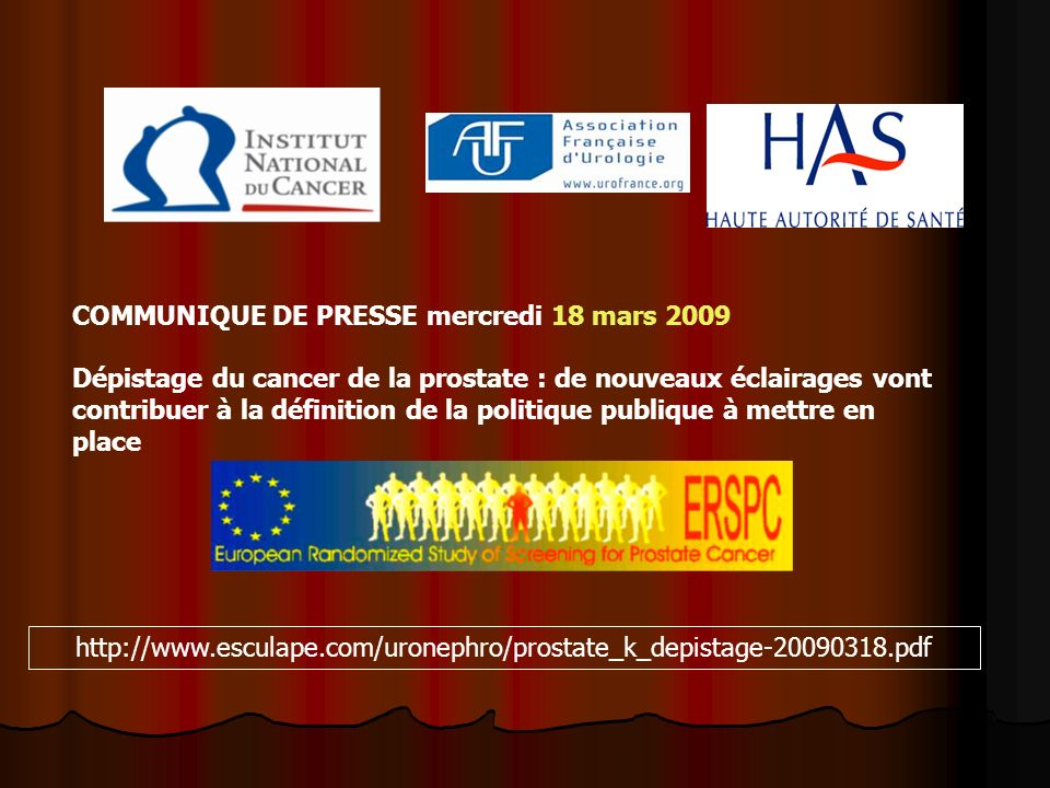 COMMUNIQUE DE PRESSE mercredi 18 mars 2009