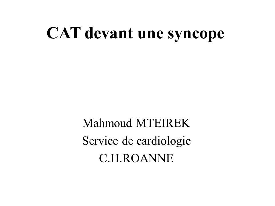 Mahmoud MTEIREK Service de cardiologie C.H.ROANNE