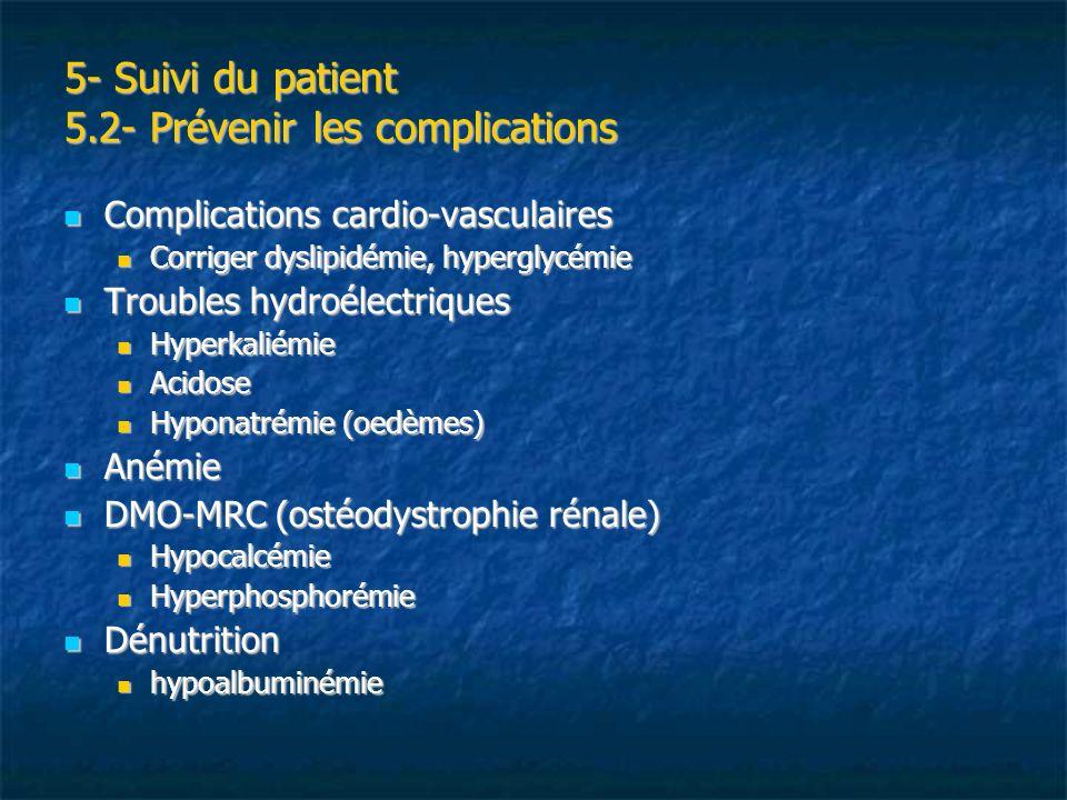 5- Suivi du patient 5.2- Prévenir les complications